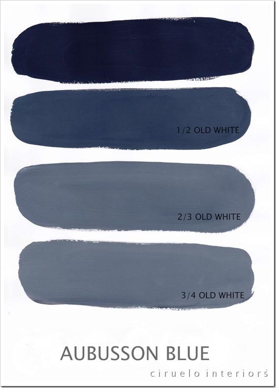 Aubusson Blue og Old White