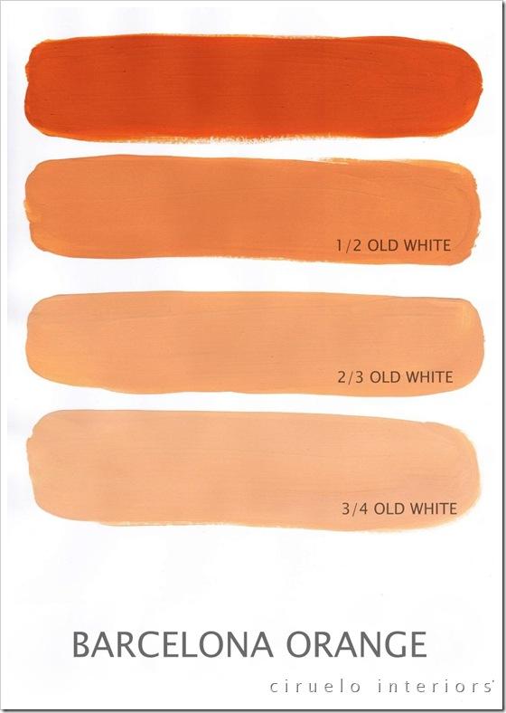 Barcelona Orange og Old White