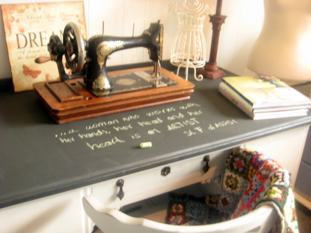Desk Annie Sloan CHalk Paint 009